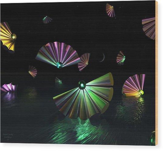 Dark Side Of The Moon Wood Print by Julie King
