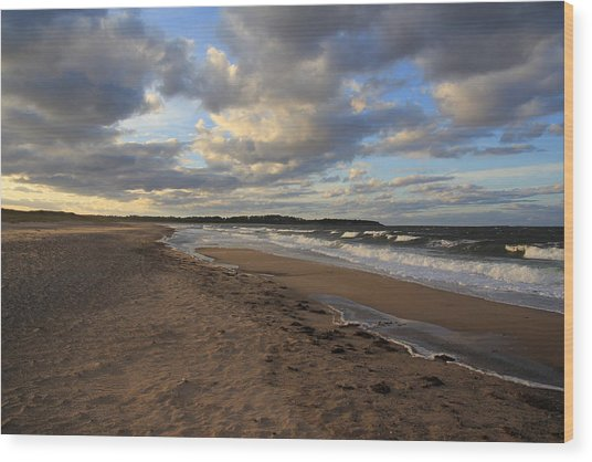 Dark Skies And Sea - Nova Scotia Seascape Wood Print