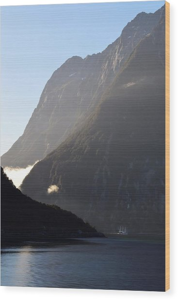 Dark Sound - New Zealand Wood Print