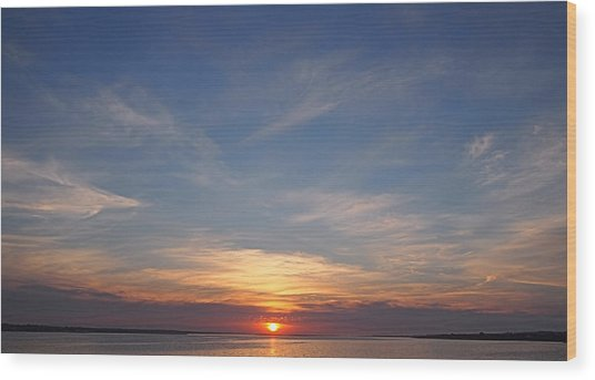 Dark Sunrise Wood Print