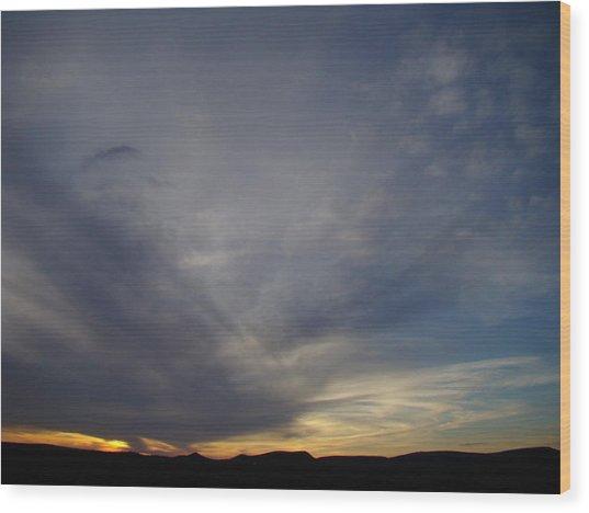 Dark Sunset Four Wood Print by Ana Villaronga