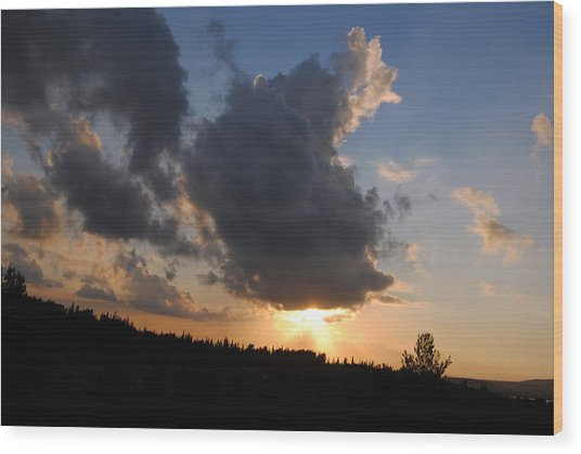 Dark Sunset Wood Print