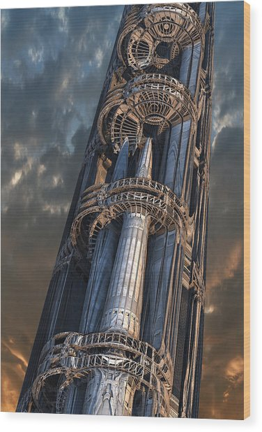 Dark Tower Wood Print