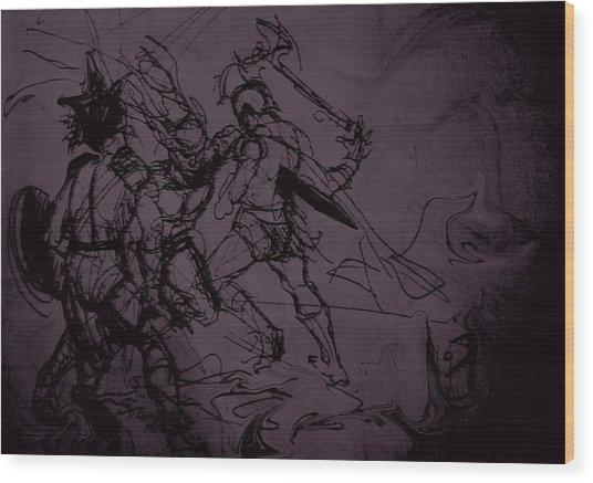 Dark Warriors Wood Print