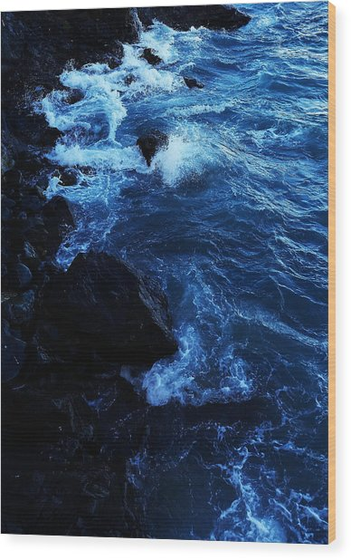 Wood Print featuring the digital art Dark Water by Julian Perry