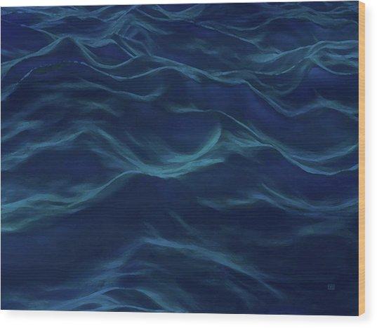 Dark Waves Wood Print by Menega Sabidussi