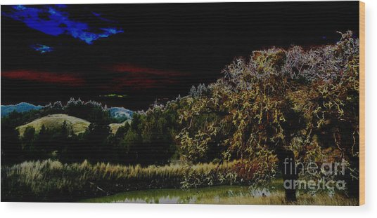 Darkness At The Edge Of Dawn Wood Print by JoAnn SkyWatcher