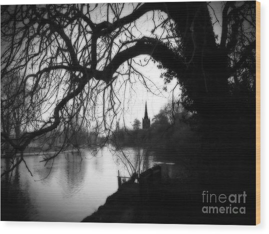 Darkness Looms Over The Avon Wood Print