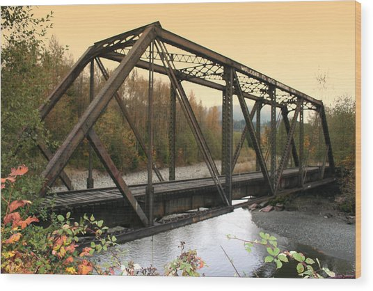 Darrington Bridge Br-6002 Wood Print by Mary Gaines