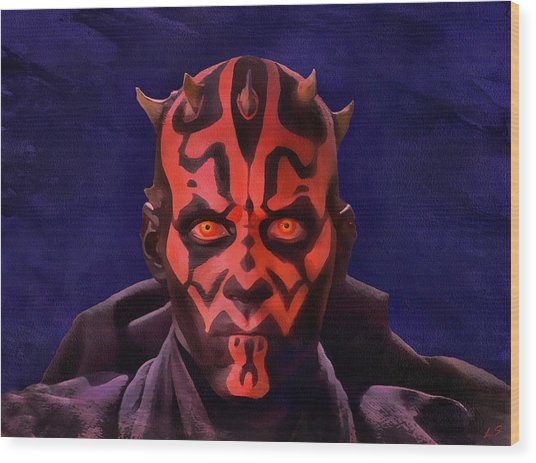 Darth Maul Dark Lord Of The Sith Wood Print