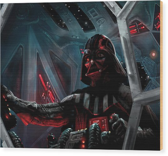 Darth Vader, Imperial Ace Wood Print