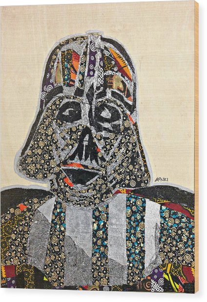 Darth Vader Star Wars Afrofuturist Collection Wood Print