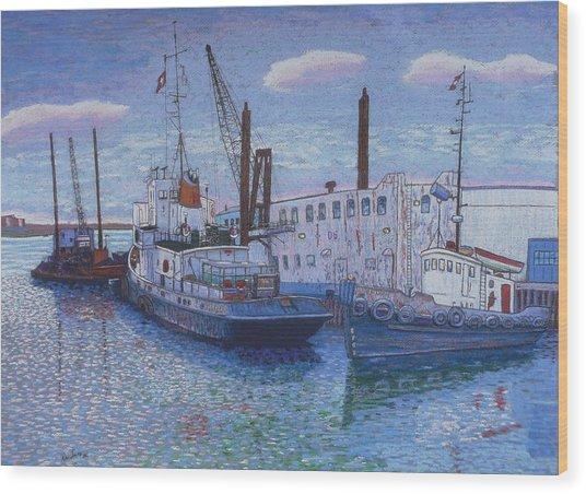 Dartmouth Marine Slips Wood Print
