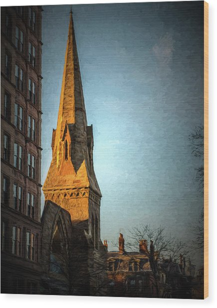 Dartmouth Street In Boston Wood Print