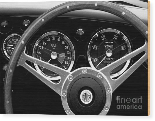 Wood Print featuring the photograph Dashboard by Stephen Mitchell