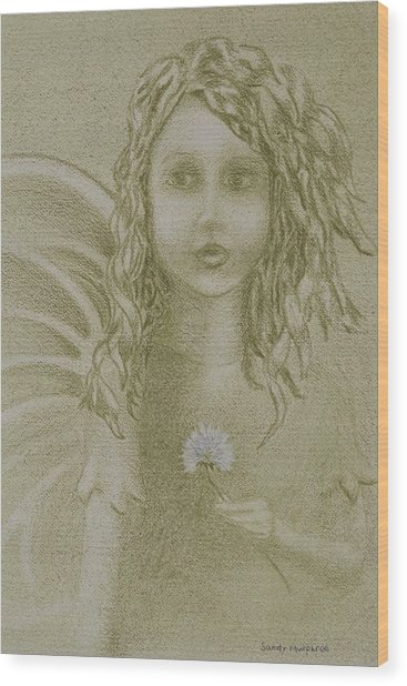 Daughter Of The Wind Wood Print