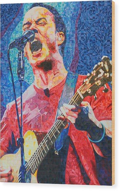 Dave Matthews Squared Wood Print