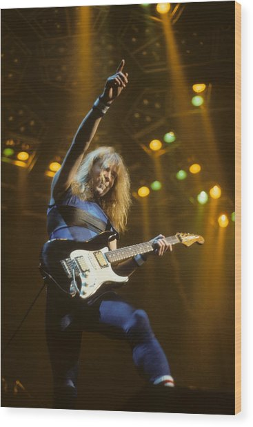 Dave Murray Of Iron Maiden Wood Print