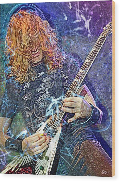 Dave Mustaine, Megadeth Wood Print