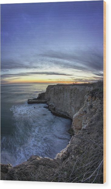 Davenport Bluffs At Sunset Wood Print