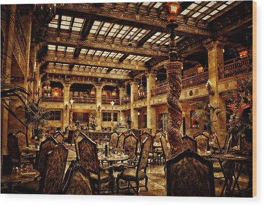 The Historic Davenport Hotel  Wood Print