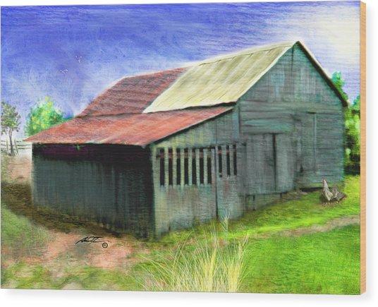 Dave's Barn Wood Print