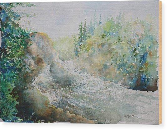 Dave's Falls Wood Print