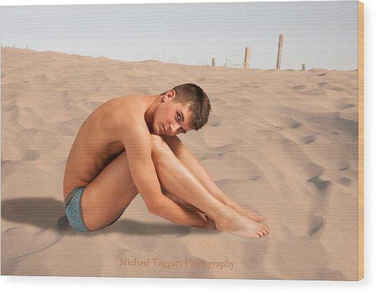 David Ashley On Sand Wood Print
