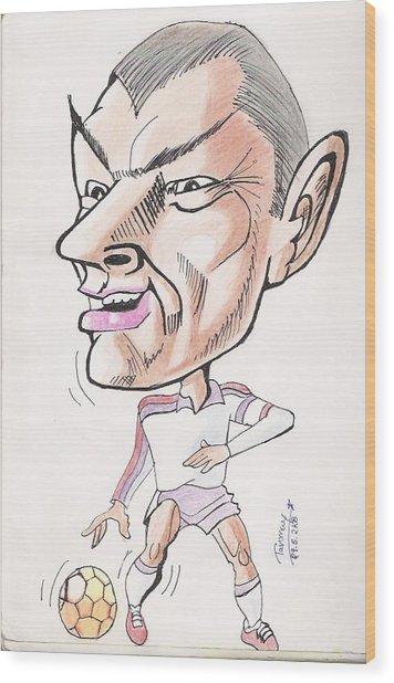 David Beckham Wood Print by Tanmay Singh