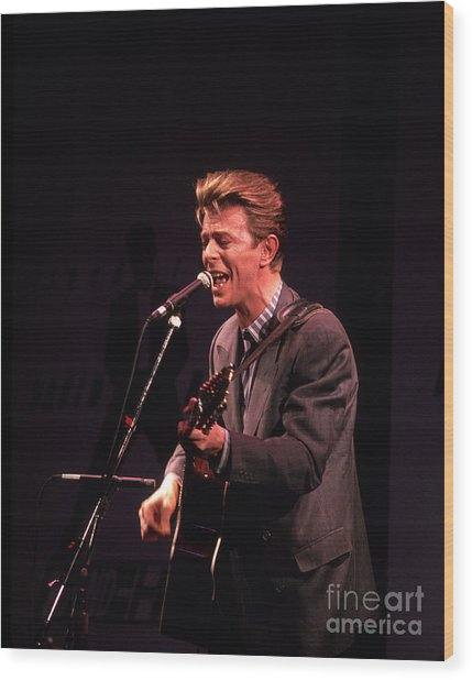 David Bowie 1990 Wood Print