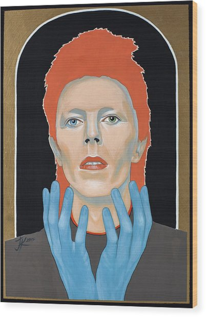 David Bowie 3 Wood Print