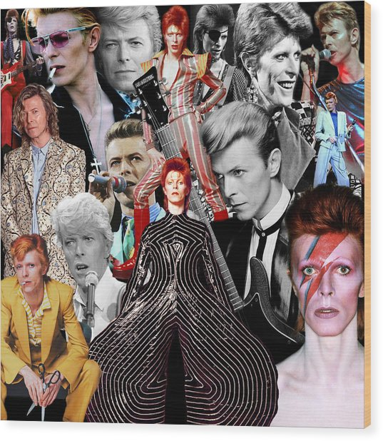 David Bowie 6 Wood Print