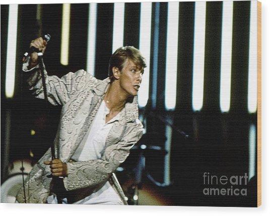 David Bowie Action Man Wood Print