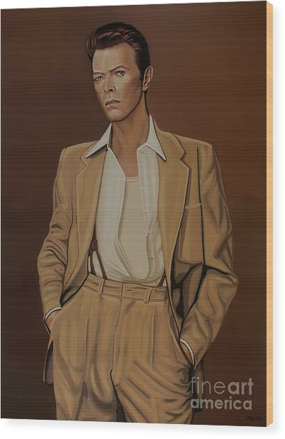 David Bowie Four Ever Wood Print