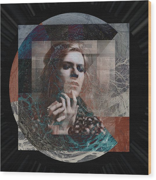 David Bowie Hunky Dory Wood Print by Graceindirain Imagery