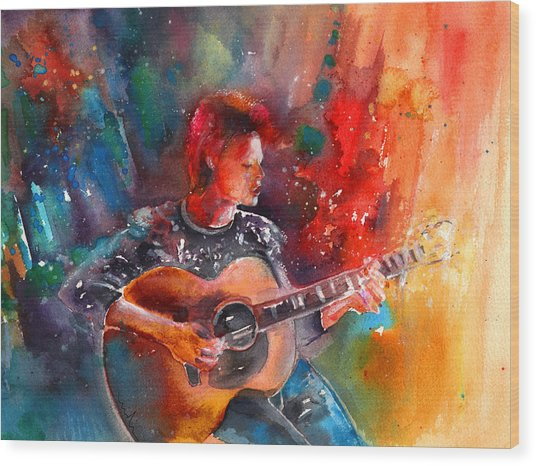 David Bowie In Space Oddity Wood Print
