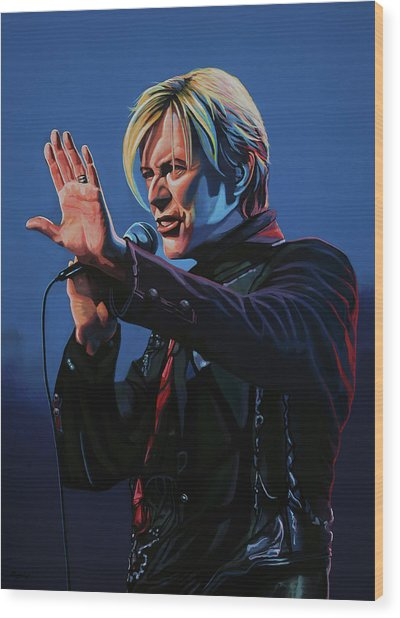 David Bowie Live Painting Wood Print