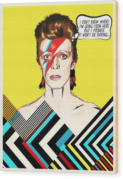 David Bowie Pop Art Wood Print
