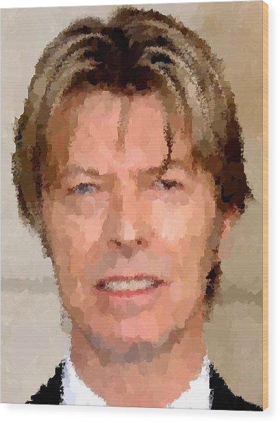 David Bowie Portrait Wood Print
