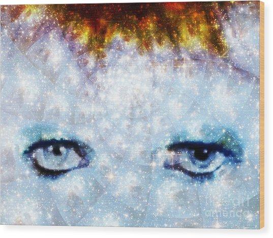 David Bowie / Stardust Wood Print