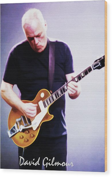 David Gilmour By Nixo Wood Print