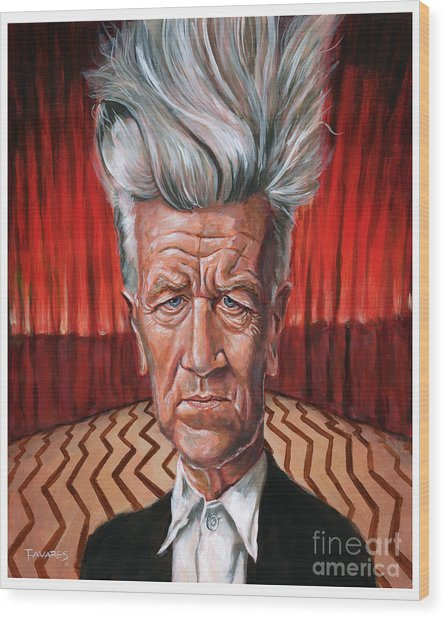 David Lynch Wood Print