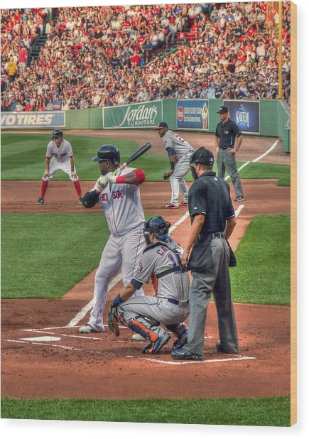 David Ortiz - Boston Red Sox  Wood Print
