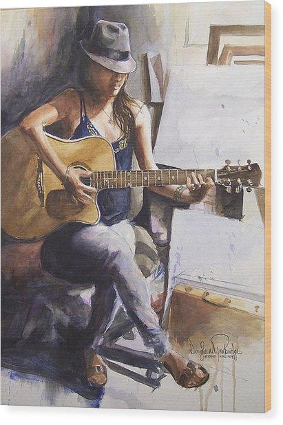 Dawb Leej - Studio Serenade Wood Print by Douglas Trowbridge