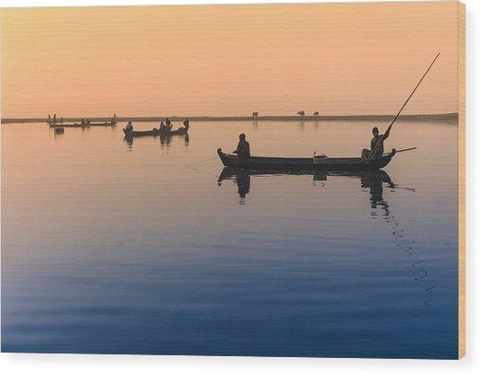 Dawn, Amarapura Wood Print