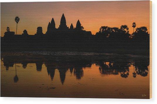 Wood Print featuring the photograph Dawn At Angkor Wat by Stuart Gordon