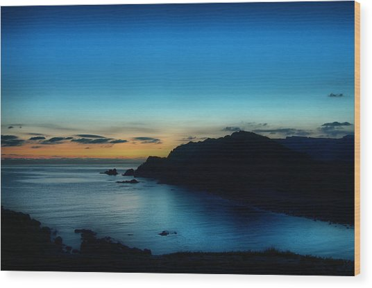 Dawn Blue In Mediterranean Island Of Minorca By Pedro Cardona Wood Print