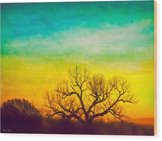 Dawn Magnitude Wood Print