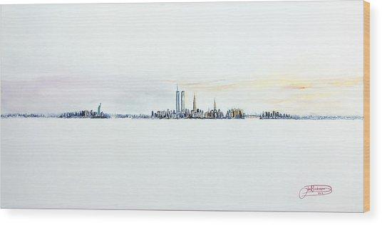 Dawn New York City Wood Print