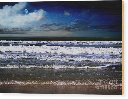Dawn Of A New Day Seascape C2 Wood Print